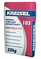 Клей для плитки  керамогранита Gres Multi 105 Kreisel 25 кг фото