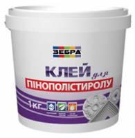 Клей для приклеивания плит пенополистирола Зебра 1 кг фото